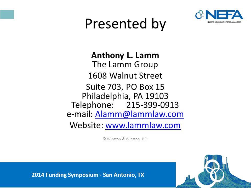 Dodd-Frank Act: Impact on Equipment Leasing and Finance 2014 Funding Symposium - San Antonio, TX