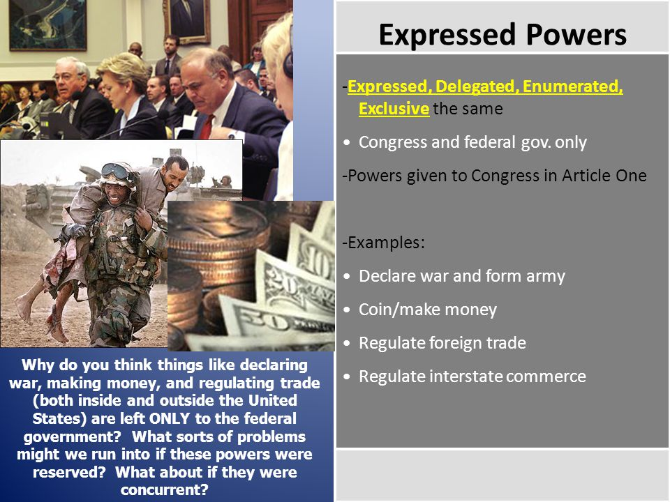 Powers of the House and Senate ~The Differences~