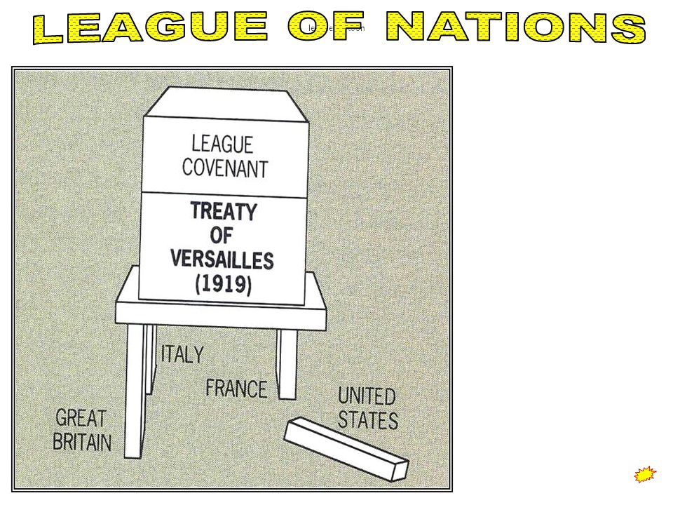 Without the assistance of the of the United States the League of Nations was doomed to failure.