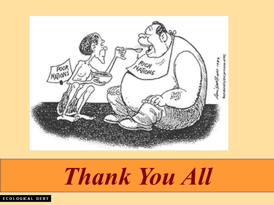Thank You All E C O L O G IC A L D E B T