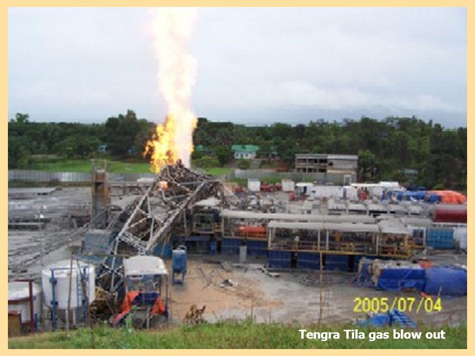 Tengra Tila gas blow out