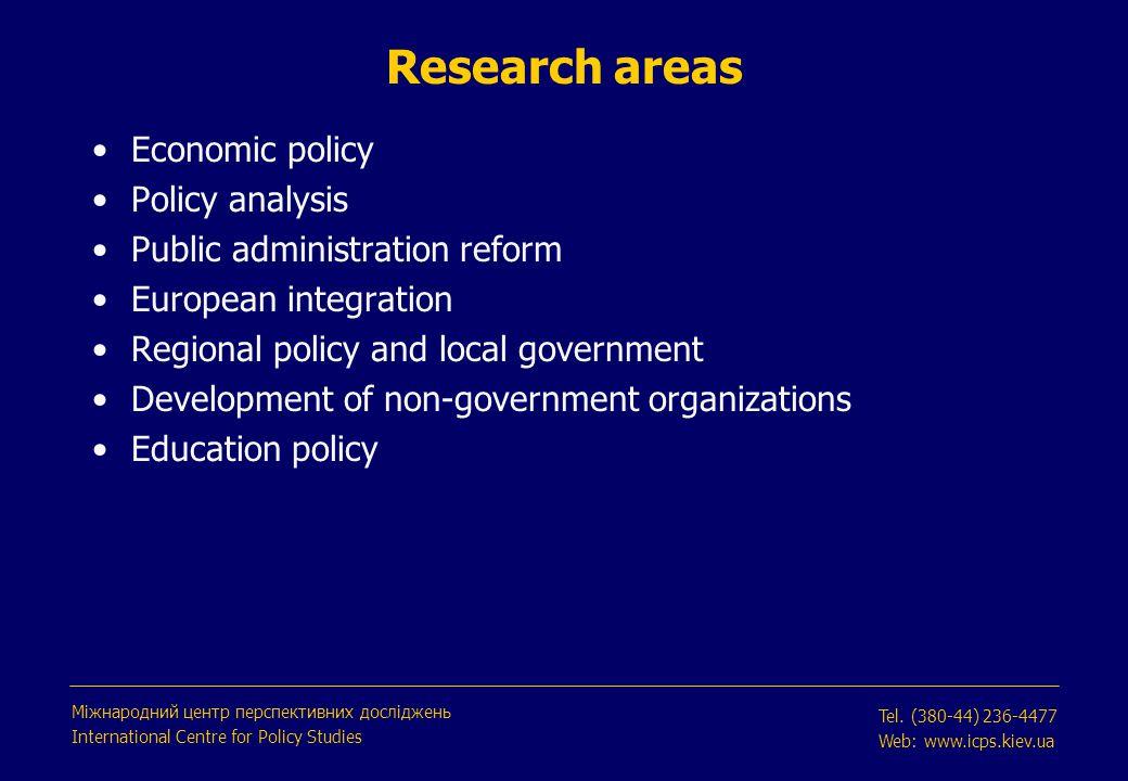 Nominal exchange rate (UAH/USD) is stable Міжнародний центр перспективних досліджень International Centre for Policy Studies Tel.