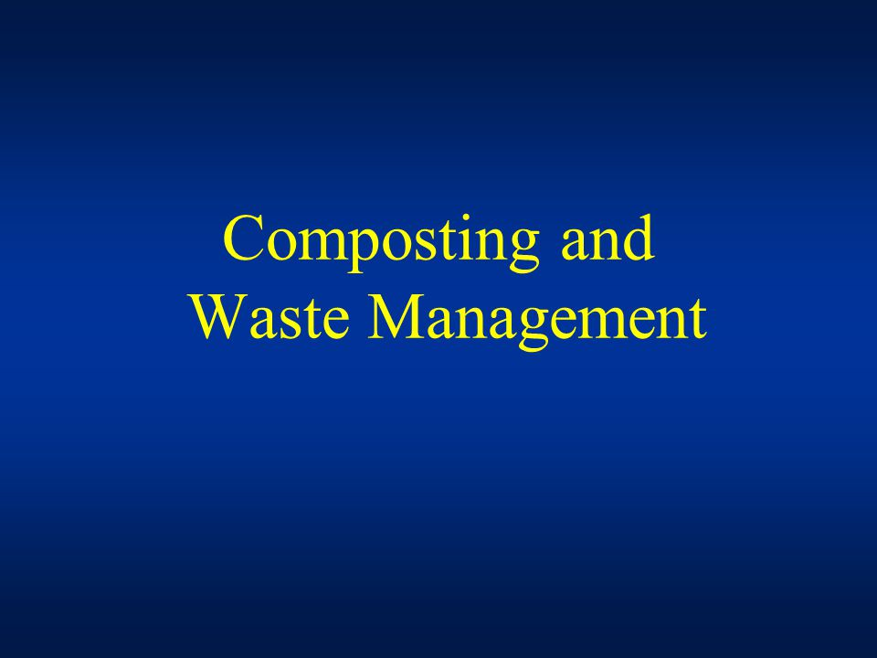 Composting and Waste Management