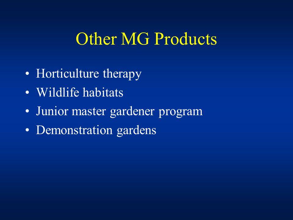 Master Gardener Funding Program generates approx.