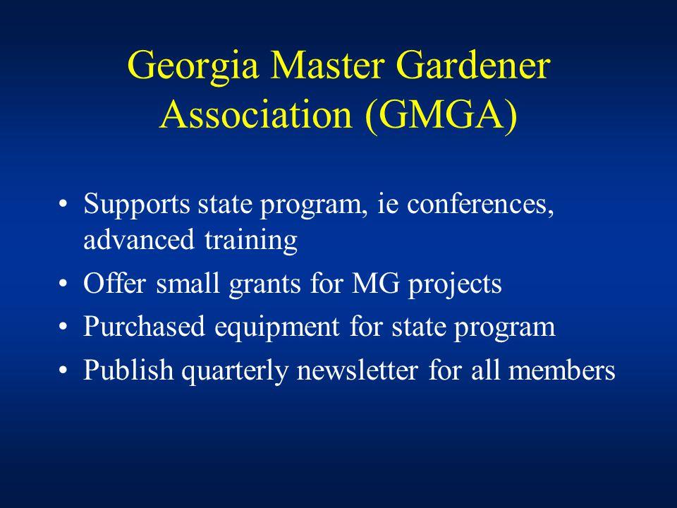Horticulture Faculty Involvement in the Master Gardener Program Creation of State Master Gardener Coordinator Position in 1997 Hort.