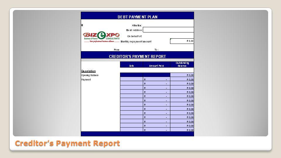 Debt Payment Proposal Debt Payment Proposal