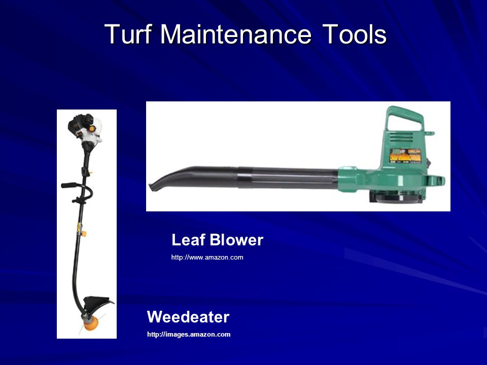 Weedeater http://images.amazon.com Leaf Blower http://www.amazon.com