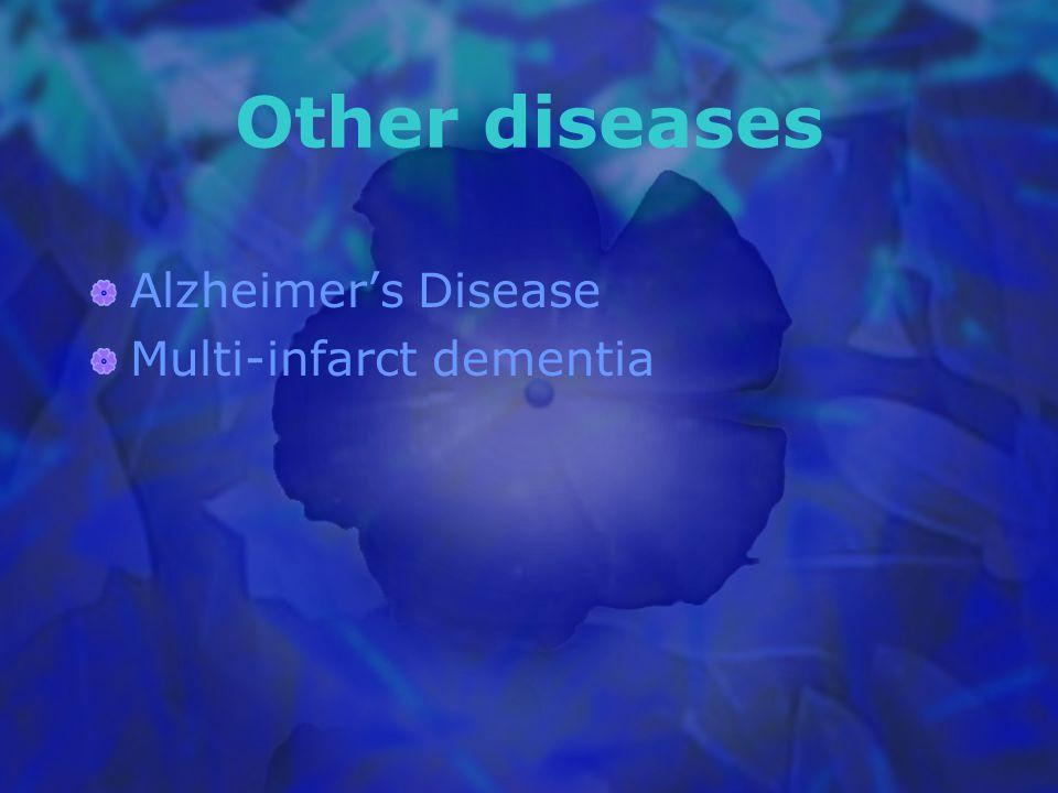 Other diseases Alzheimer's Disease Multi-infarct dementia