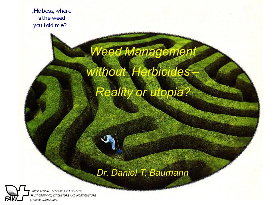 Weed Management without Herbicides – Reality or utopia Dr. Daniel T. Baumann