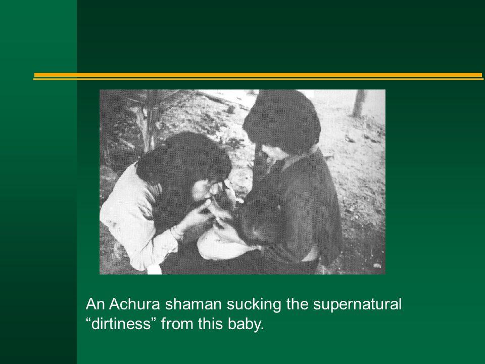 "An Achura shaman sucking the supernatural ""dirtiness"" from this baby."