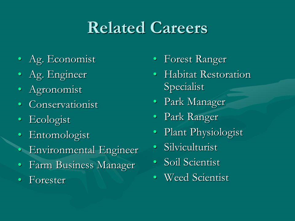 Related Careers Ag. EconomistAg. Economist Ag. EngineerAg.