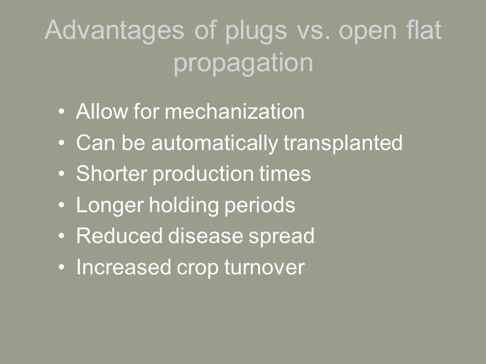 Advantages of plugs vs.