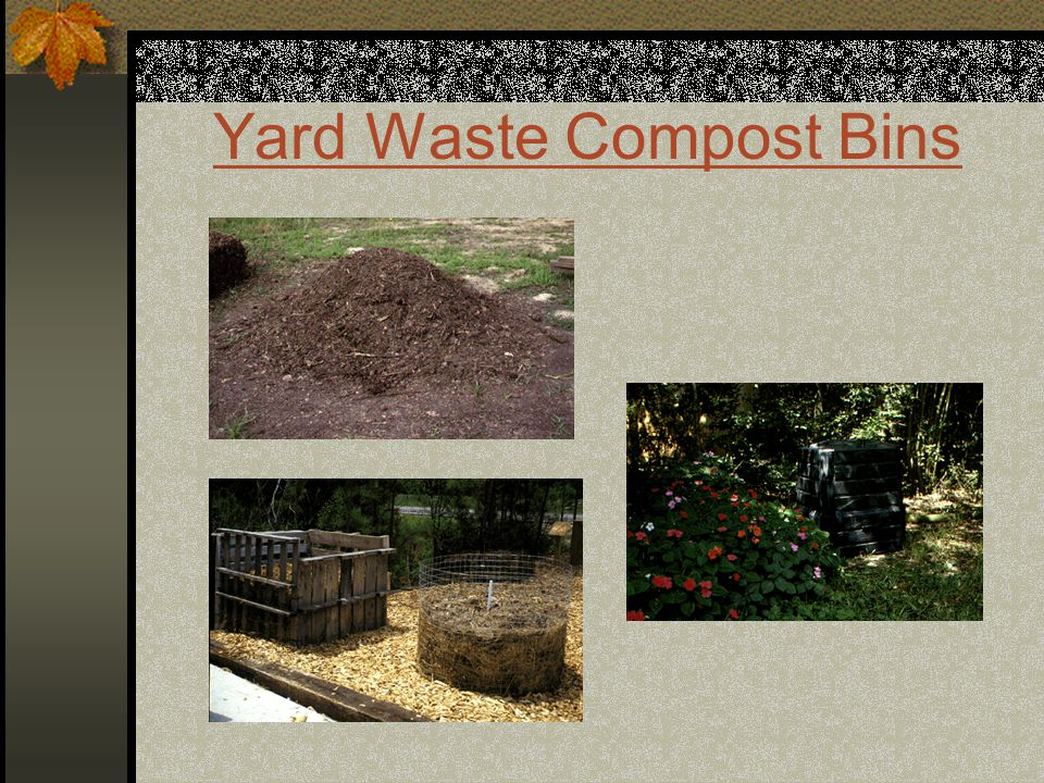 Yard Waste Compost Bins