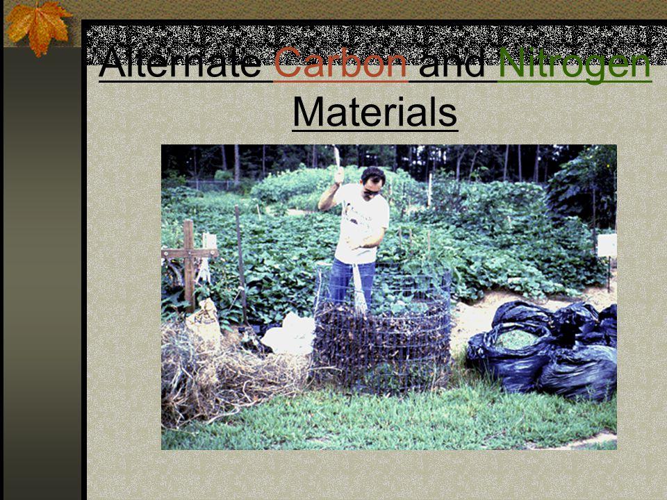Alternate Carbon and Nitrogen Materials