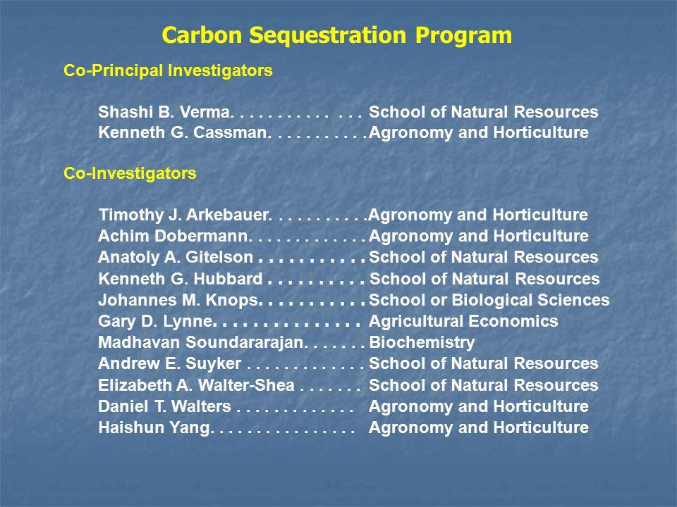 Co-Principal Investigators Shashi B. Verma..............
