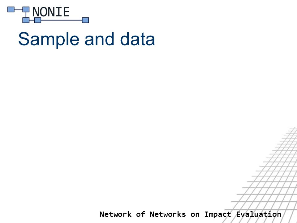 Network of Networks on Impact Evaluation Sample and data