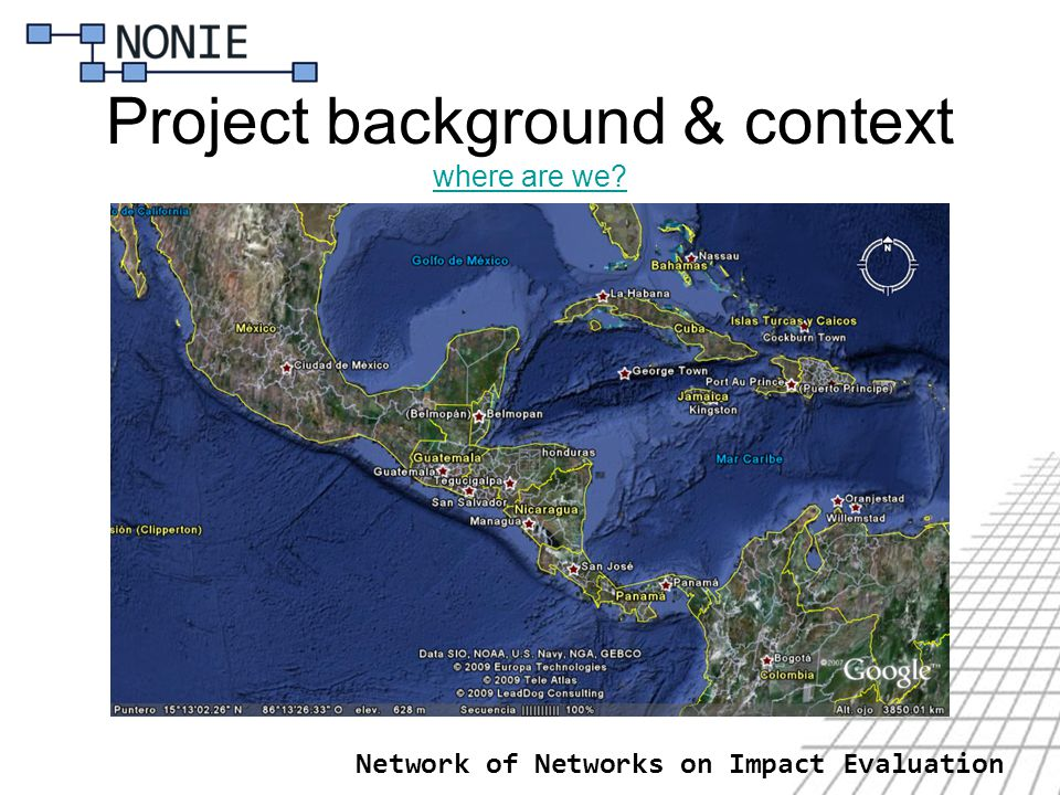 Project background & context where are we? where are we? Network of Networks on Impact Evaluation