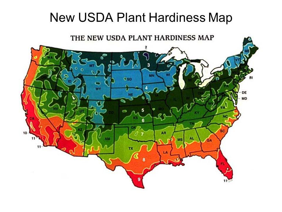New USDA Plant Hardiness Map