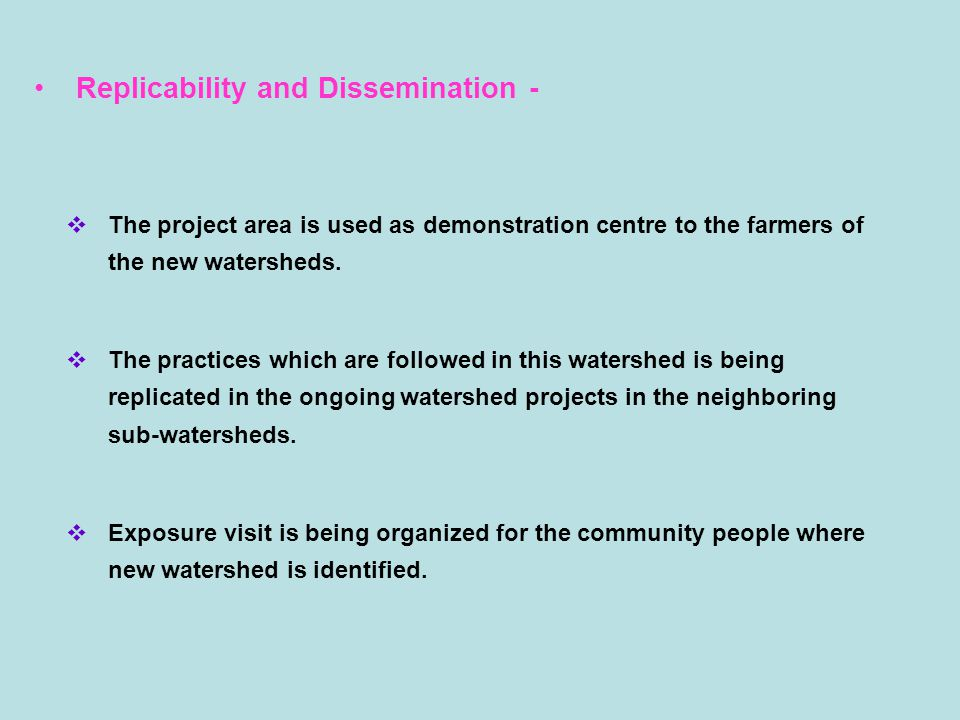 A Success Story – DDP H-2 in Hirehadgali, Tq: Hadagali, Dist: Bellary Problem statement – Objectives & Methodology -  Soil moisture & water availability was a constraint during pre project period.