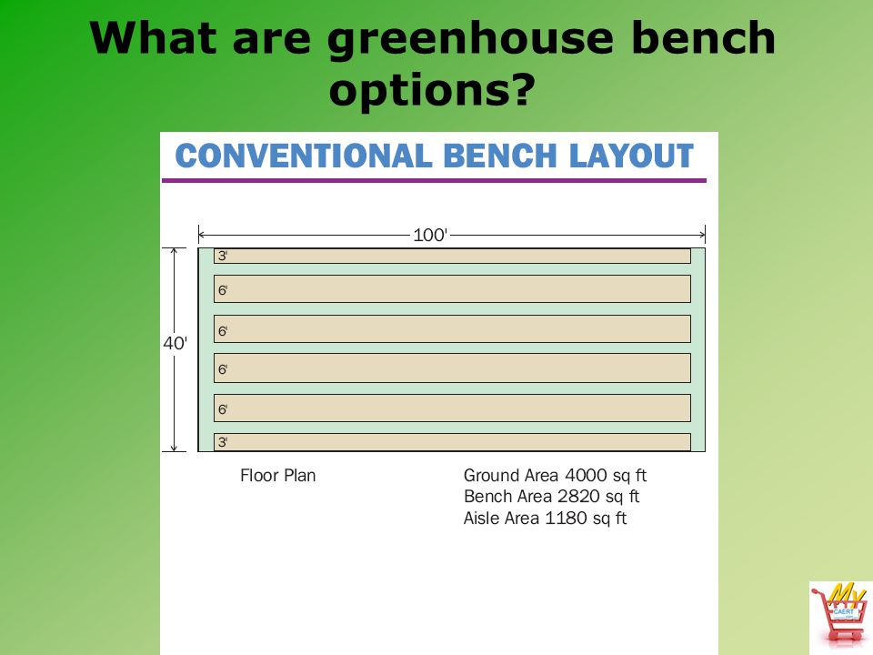 What are greenhouse bench options?