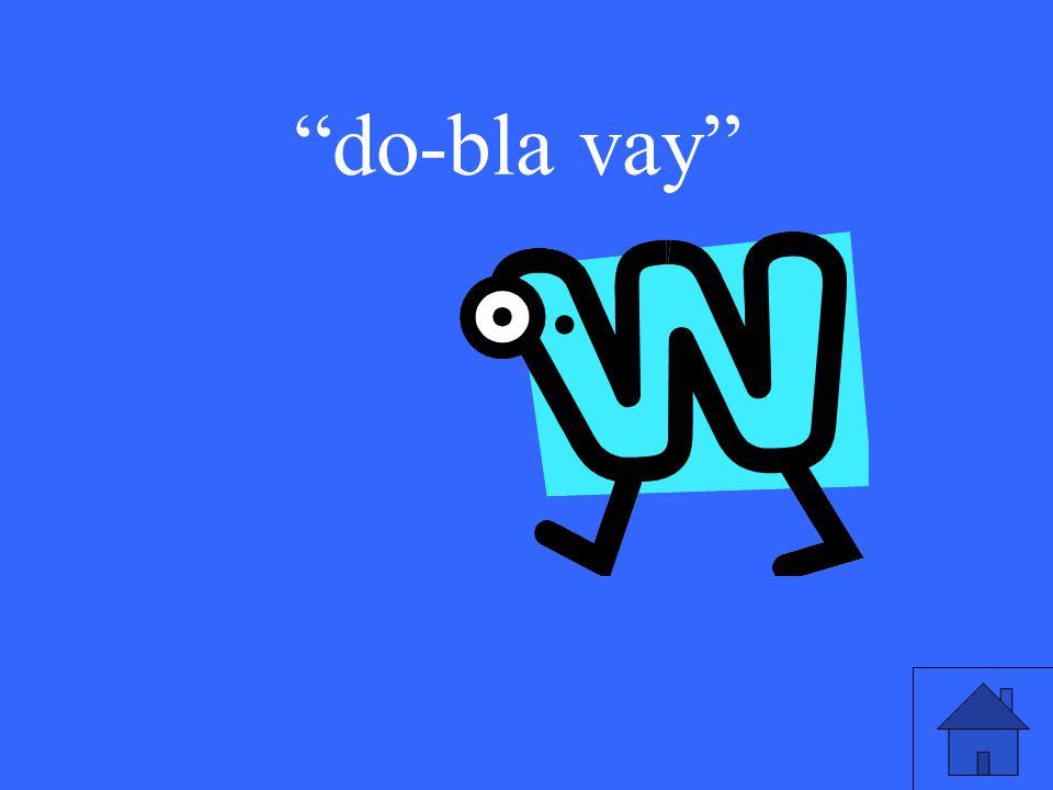do-bla vay