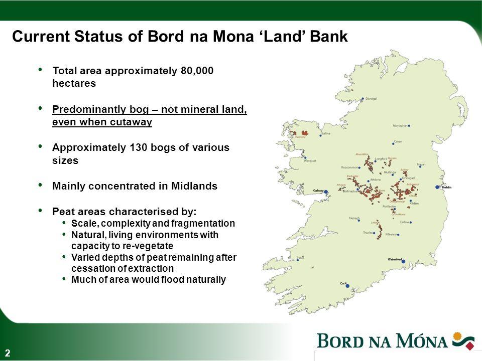 Existing Land Use 3 Production related lands Oweninny, Co Mayo Other – Wind Energy, Biodiversity, Amenity/Tourism, Forestry, etc.