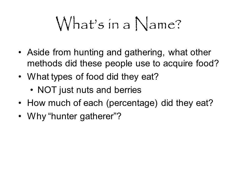 What's in a Name.