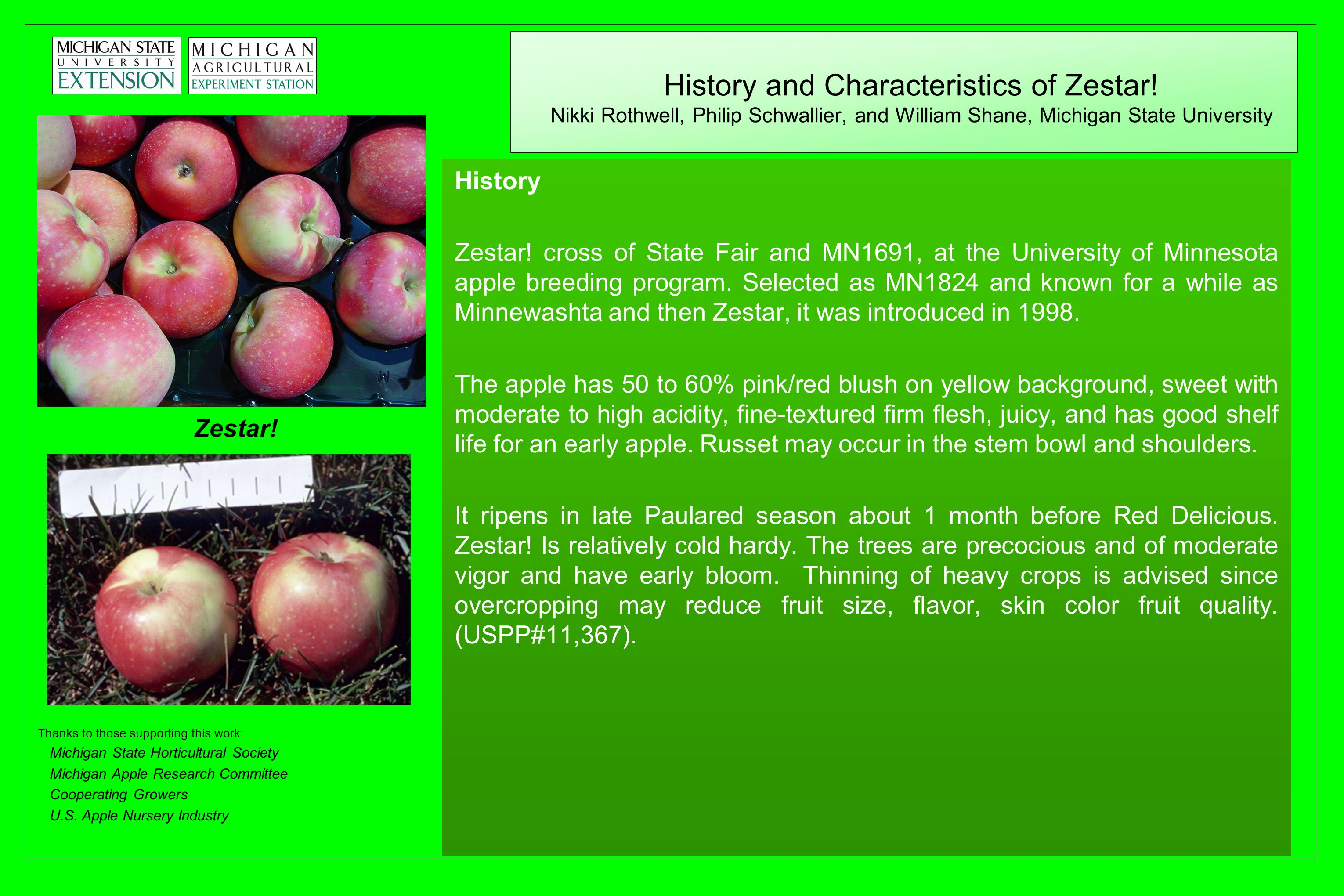 History and Characteristics of Zestar.