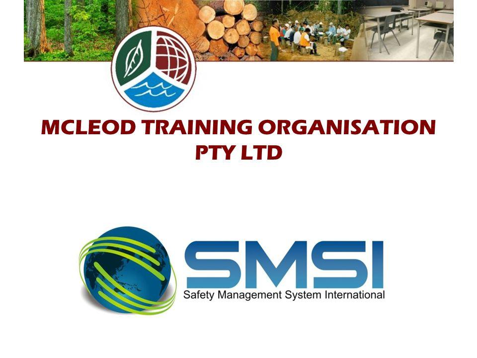 MCLEOD TRAINING ORGANISATION PTY LTD