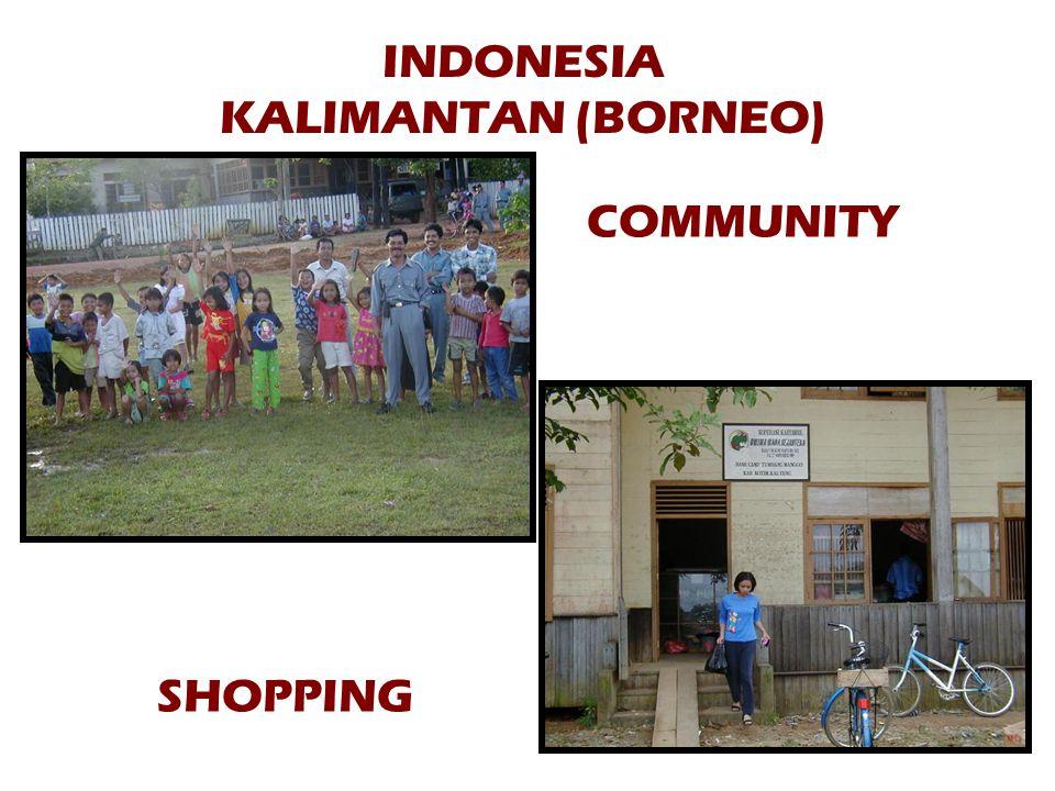 INDONESIA KALIMANTAN (BORNEO) COMMUNITY SHOPPING
