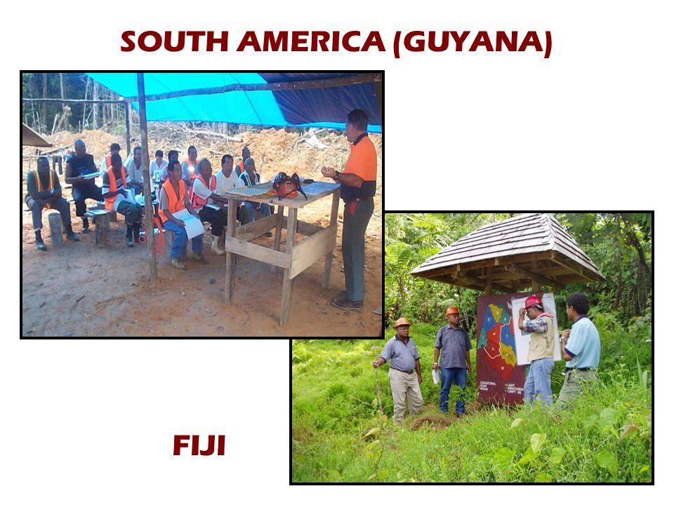 SOUTH AMERICA (GUYANA) FIJI