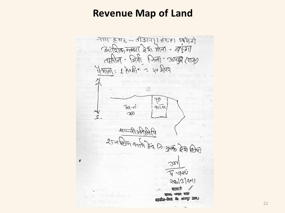 Revenue Map of Land 22