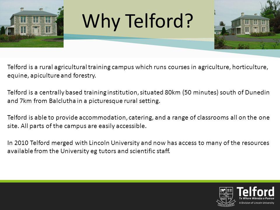 Why Telford.