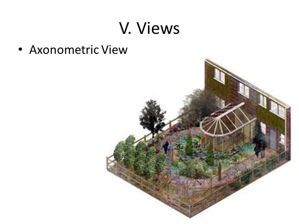 V. Views Axonometric View