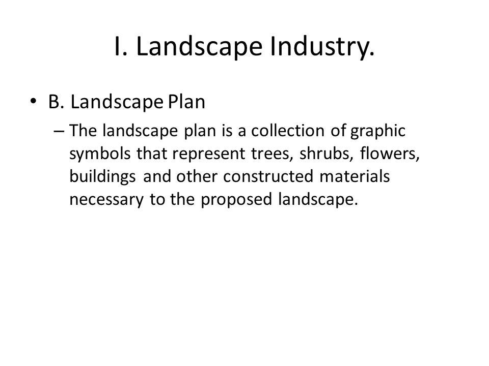 I. Landscape Industry. B.