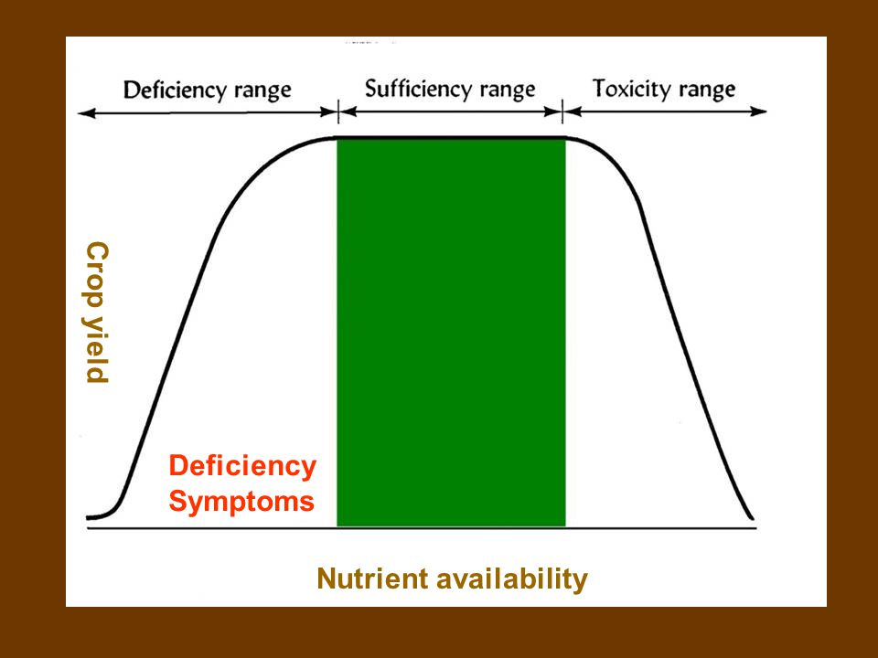 …… Nutrient availability Crop yield Deficiency Symptoms