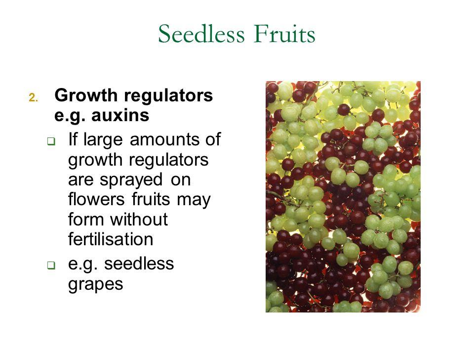 Seedless Fruits 2.Growth regulators e.g.