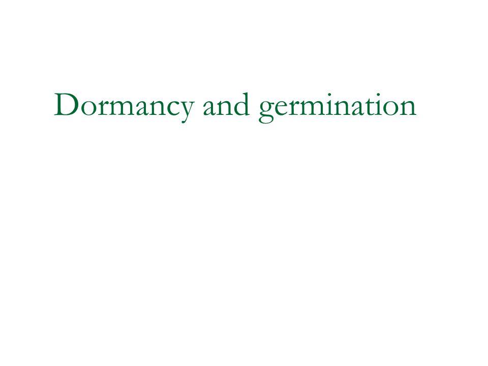 Dormancy and germination