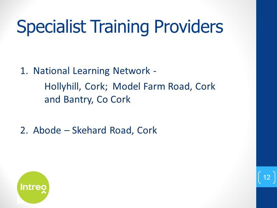 Specialist Training Providers 1.