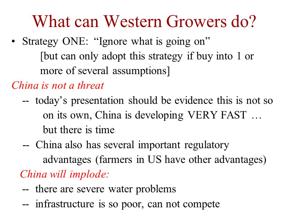 What can Western Growers do.
