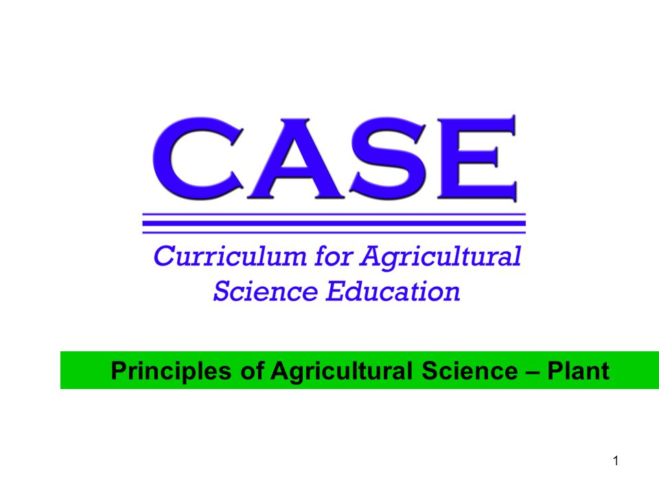 Principles of Agricultural Science – Plant 1