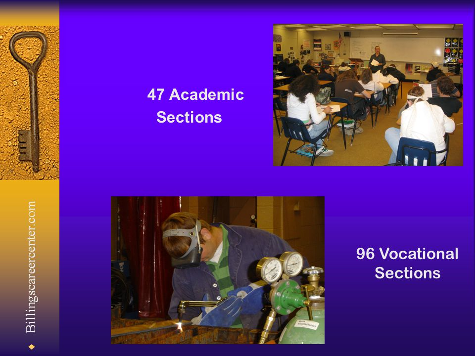  Billingscareercenter.com 47 Academic Sections 96 Vocational Sections