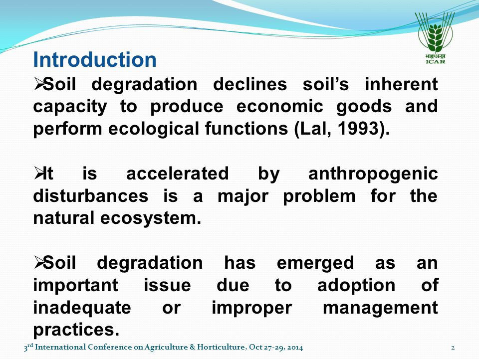 Soil Resilience  the capacity of a soil to recover its functional and structural integrity after a disturbance (Herrick and Wander, 1998; Lal, 1997 & 1993; Blum and Santelises, 1994; Sombroek, 1994).
