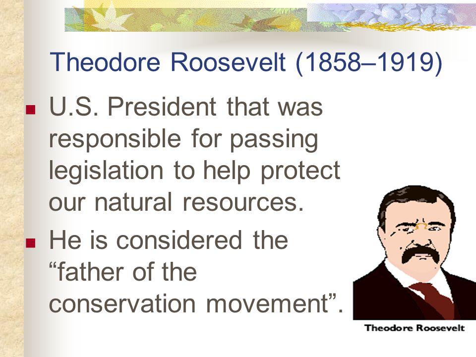 Theodore Roosevelt (1858–1919) U.S.