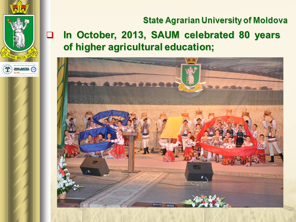 State Agrarian University of Moldova  On this occasion, the President of the Republic of Moldova, Mr.