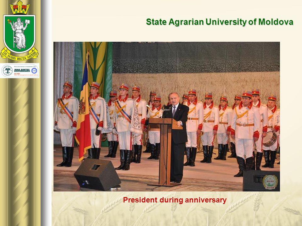 State Agrarian University of Moldova President during anniversary