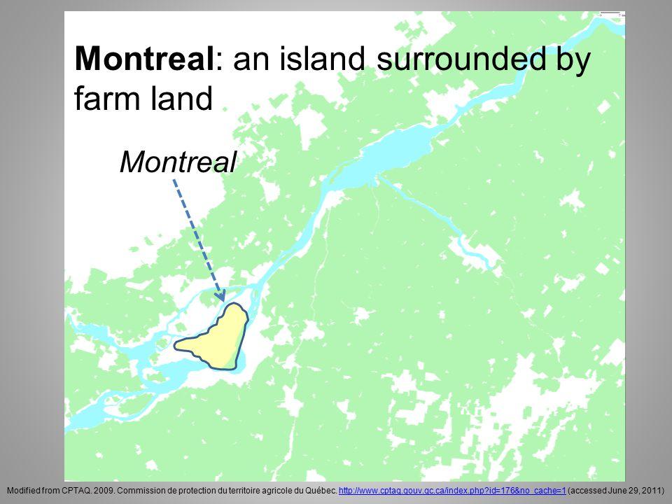 Last remaining farm land on the Island of Montreal McGill University