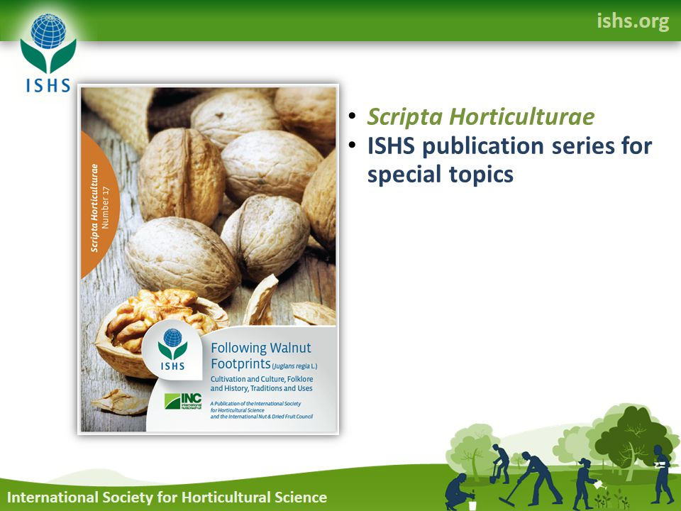 Scripta Horticulturae ISHS publication series for special topics