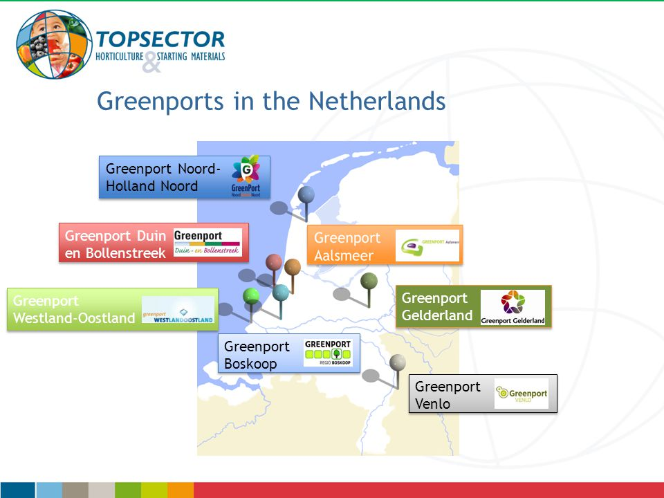 Greenport Westland-Oostland Greenport Westland-Oostland Greenport Boskoop Greenport Boskoop Greenport Gelderland Greenport Gelderland Greenport Duin en Bollenstreek Greenport Duin en Bollenstreek Greenport Noord- Holland Noord Greenport Noord- Holland Noord Greenport Venlo Greenport Venlo Greenports in the Netherlands