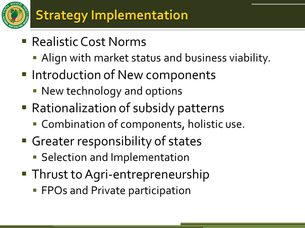  Realistic Cost Norms  Align with market status and business viability.